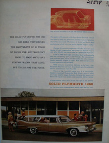 Plymouth Wagon Solid Plymouth Ad 1960