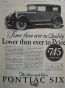 Pontiac Six Finer Than Ever In Quality Ad 1927