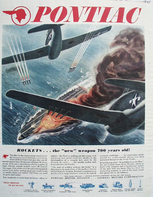 Pontiac And Rockets 1945.