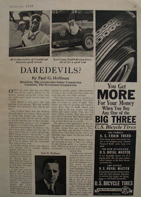 Studebaker Ab Jenkins And Lon Corum Article 1938