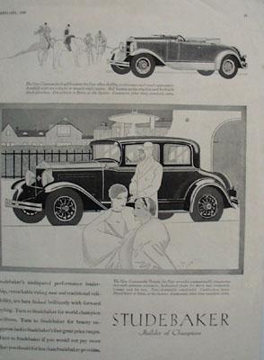 Studebaker Commander Victoria Champions Ad 1929