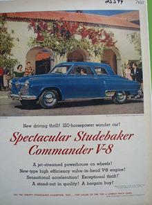 Studebaker Commander V8 Spectacular Ad 1951