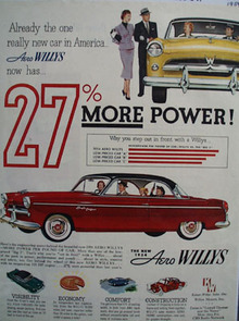 Willys Aero Willys More Power Ad 1954