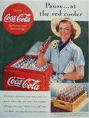 Coca Cola Pause At The Red Cooler Ad 1938