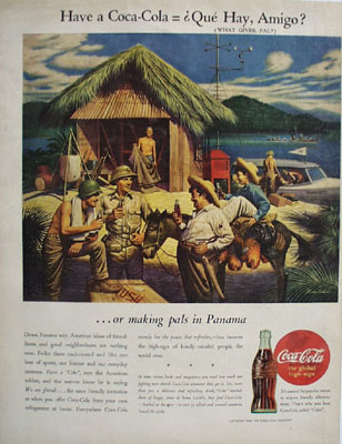Coca Cola Making Pals in Panama Ad 1944