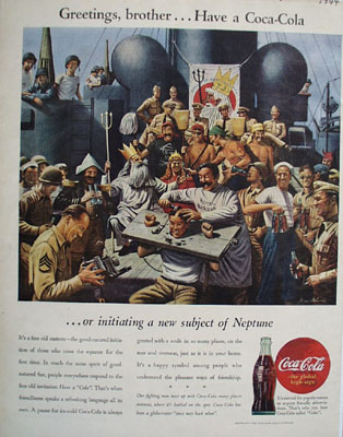 Coca Cola Greetings Brother Ad 1944