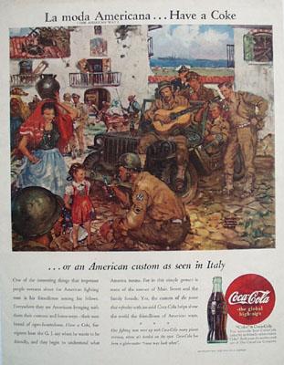 Coca Cola La Moda Americana Ad 1945