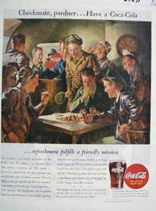 Coca Cola Checkmate Pardner Ad 1945