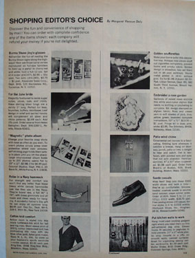 Shop By Mail And Alexander Sales Corp Ad 1968