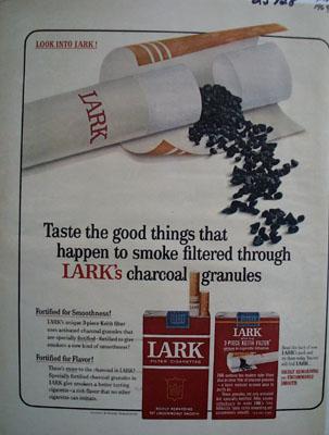 Lark Cigarettes Taste The Good Things Ad 1964