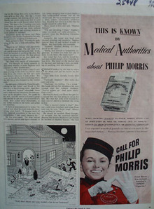 Phillip Morris Known Medical Authorities Ad 1944