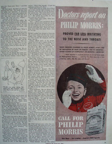 Philip Morris Doctors Report On Philip Morris Ad 1943