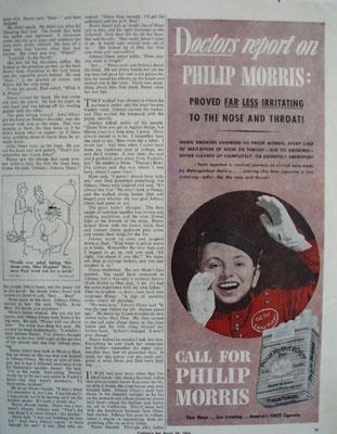 Philip Morris Doctors Report On Philip Morris Ad 1943