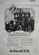 Buick Same Loyal Service Ad 1926