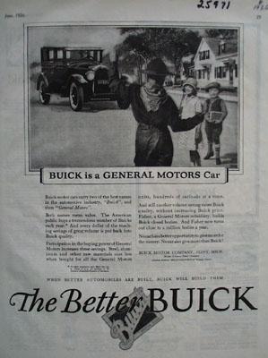 Buick is a General Motors Car Ad 1926