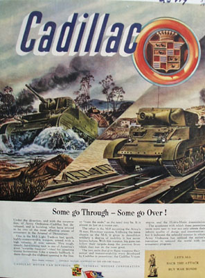 Cadillac Some go Through Some Go Over Ad 1944