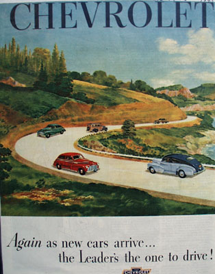 Chevrolet Leader Is One To Drive Ad 1945