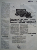 Chrysler Electrifying New Lower Prices Ad 1926