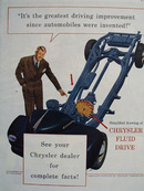 Chrysler With Greatest Driving Improvement Ad 1945