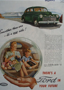 Ford Smoother Than Ever Ad 1945