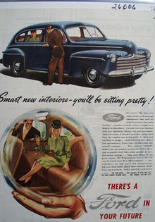 Ford You Will Be Sitting Pretty Ad 1946