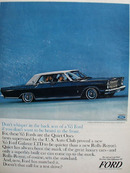 Ford Galaxie Do Not Whisper In Back Seat Ad 1964