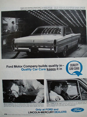 Ford Company Builds Quality In Ad 1965