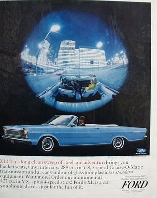 Ford Galaxie 500 XL Steel And Adventure Ad 1965
