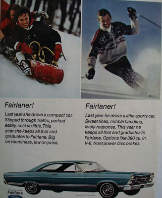 Ford Fairlaner Ad 1967