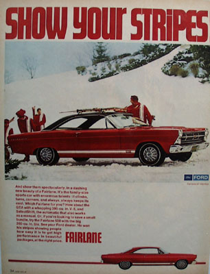 Ford Fairlane Show Your Stripes Ad 1967