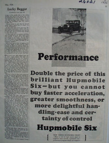 Hupmobile Performance Ad 1926