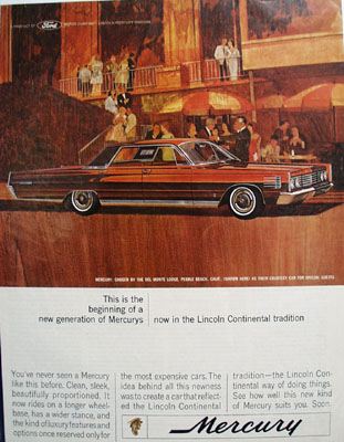 Mercury And Del Monte Lodge In Calif Ad 1964