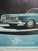 Oldsmobile Step Out In Front In 66 Ad 1965