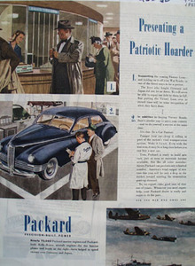 Packard Presenting A Patriotic Hoarder Ad 1945