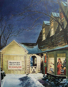 Plymouth Christmas Ad 1945