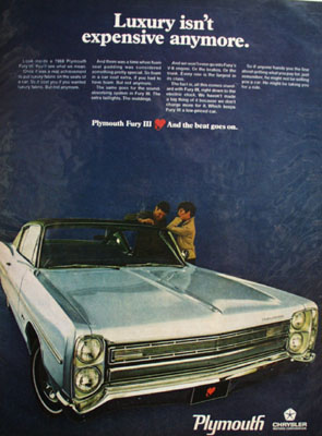 Plymouth Luxury Is Not Expensive Anymore Ad 1968