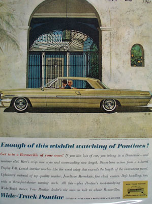 Pontiac Wishful Watching Ad 1961