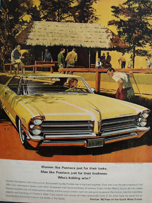 Pontiac Whos Kidding Who Ad 1965