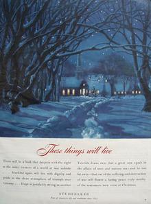 Studebaker Christmas Ad 1944