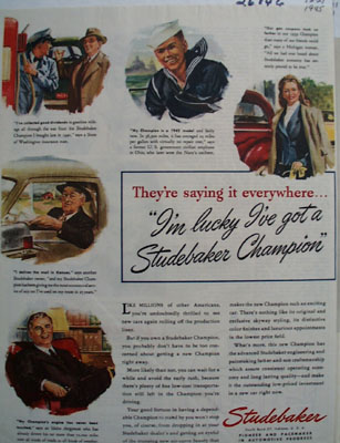 Studebaker They Are Saying It Everywhere Ad 1945