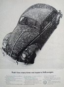 Volkswagen Covered With Initials Ad 1965