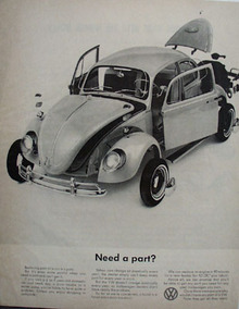 Volkswagen Need A Part Ad 1965