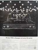 Volkswagen A New VW Is Cheaper Ad 1965