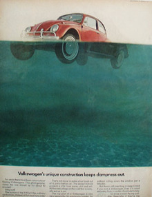 Volkswagen Keeps Dampness Out Ad 1967