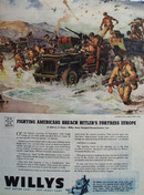 Willys Jeep Reach Hitlers Fortress Europe Ad 1944