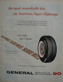 General Dual 90 Most Remarkable Tire Ad 1959