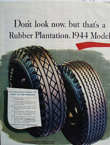 Goodyear Thats A Rubber Plantation Ad 1944