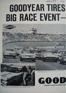 Goodyear Tires Big Race Event Ad 1960