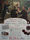 Roma Wine Elsa Maxwell Festive Touch Ad 1945