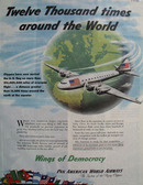 Pan American World Airways Around World Ad 1945